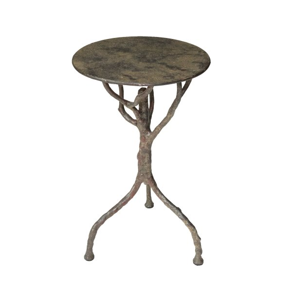 Tree Side Table in Iron Framework