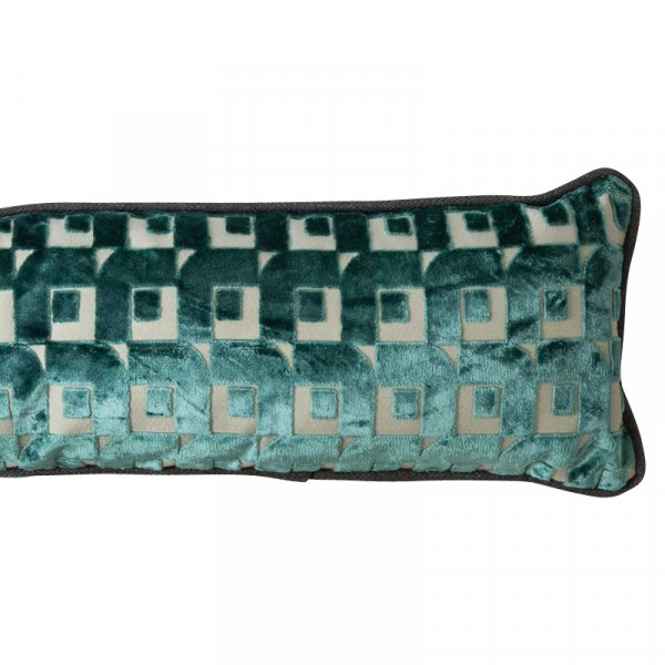 Private: Long Blue Striped Cushion in Cotton