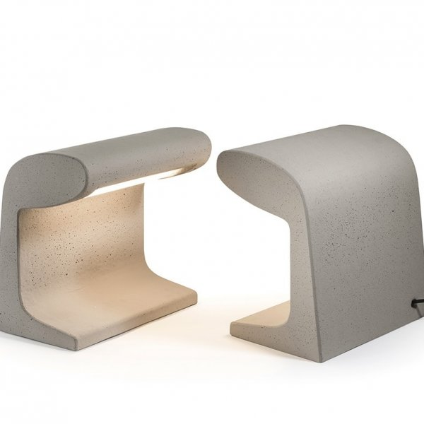 Concrete Table Lamp – Borne Béton Petite by Le Corbusier