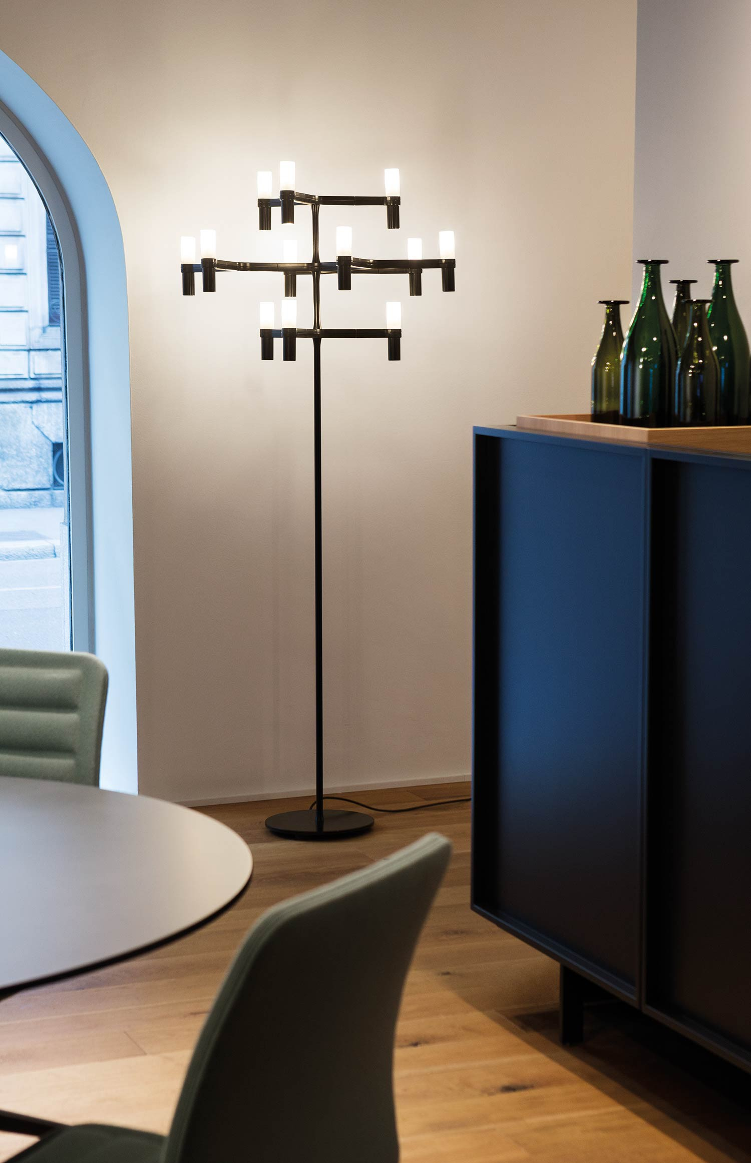 Gold Plated Floor Lamp – Crown by Jehs+Laub