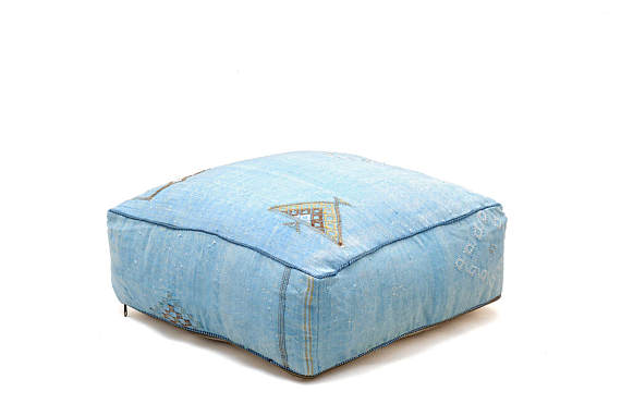 Light Blue Floor Cushion in Sabra