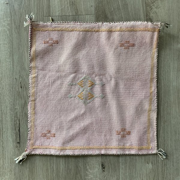 Light Pink Blush Sabra Pillow in Cactus Silk