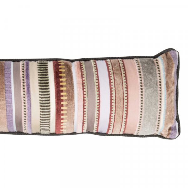 Long Pink Striped Cushion in Cotton