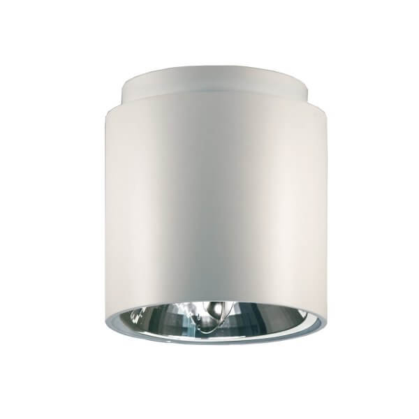 White Ceiling Lamp – Cilindro by Marco Pollice