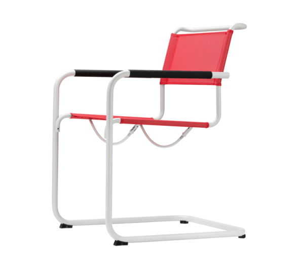 Cantilever Chair in Steel Frame S34N All Seasons