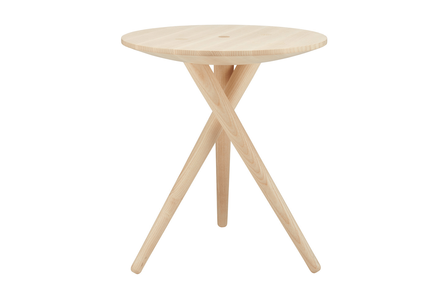 Three Legs Frame Side Table in Solid Wood
