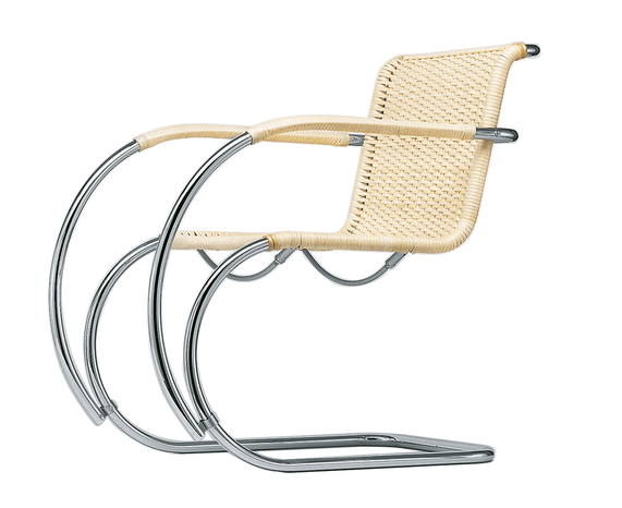 Tubular Steel Cantilever Chair S 533 RF