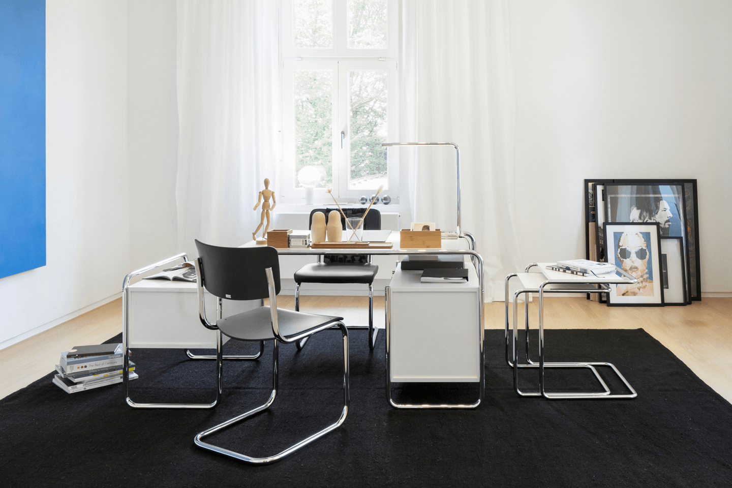 Tubular Steel Side and Nesting Table Set B 97 Pure Materials