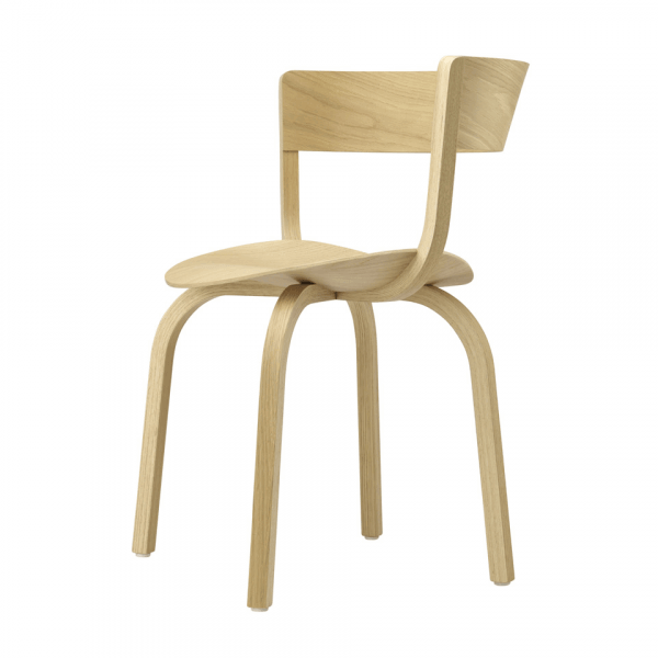 Wooden Chair with Armrest 404 F