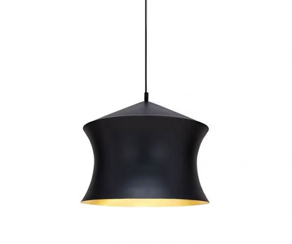 Beat Waist Pendant Lamp Black