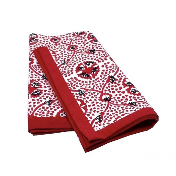 Carolina Irving and Daughters Red Tile Napkins