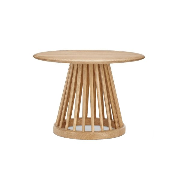 Fan Table Natural Base Natural Oak Top