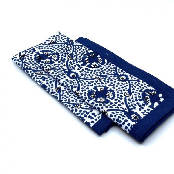 Carolina Irving and Daughters Blue Tile Napkins