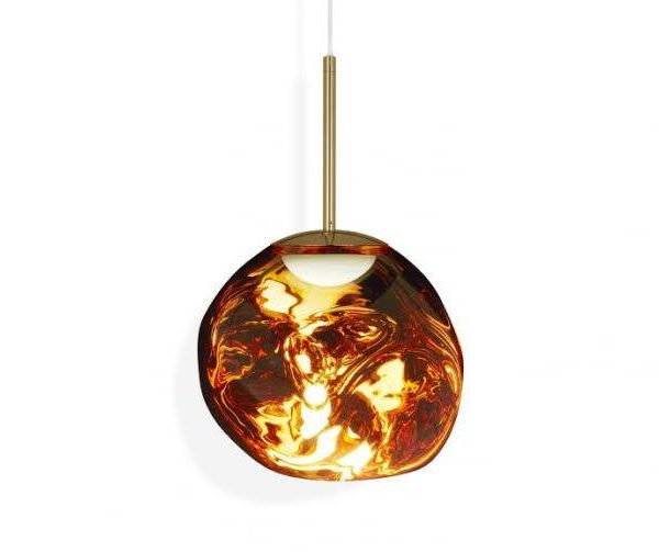 Melt Mini LED Pendant Lamp Gold