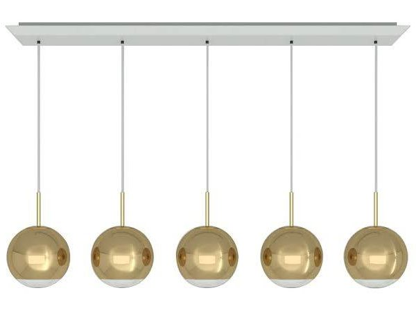Mirror Ball Gold 25cm Linear Pendant System