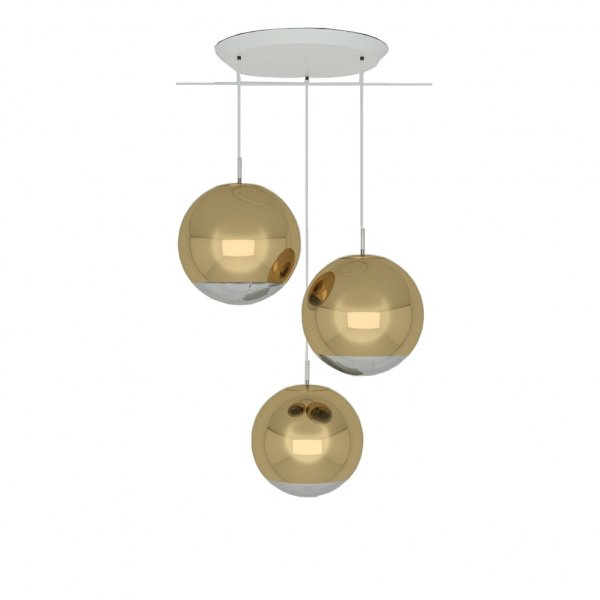 Mirror Ball Gold 40cm Round Pendant System
