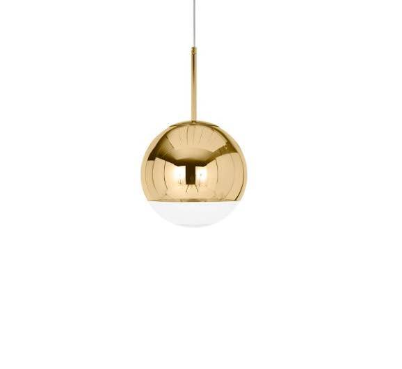 Mirror Ball Pendant Lamp Gold 25cm