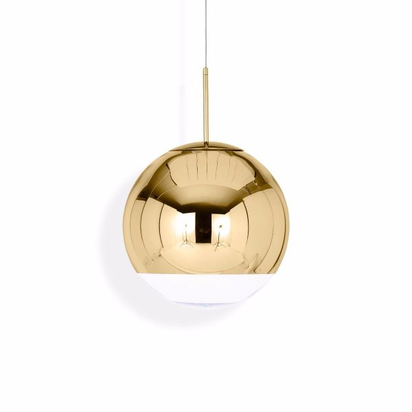 Mirror Ball Pendant Lamp Gold 40cm