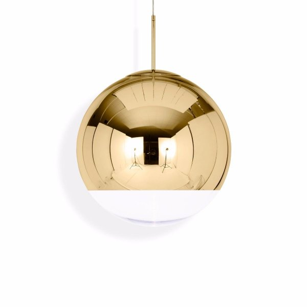 Mirror Ball Pendant Lamp Gold 50cm