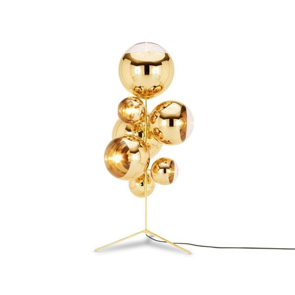 Mirror Ball Stand Chandelier Lamp Gold