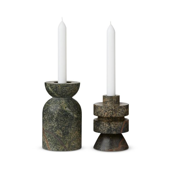Rock Candle Holder Medium Set of 2