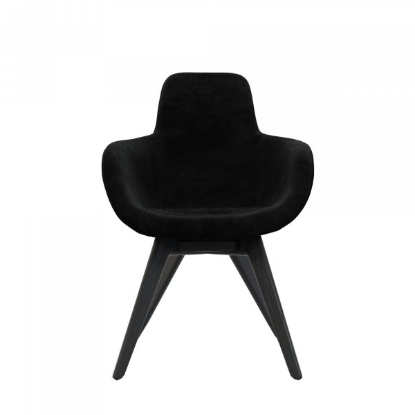 Scoop Chair High Back Black Leg Cassia