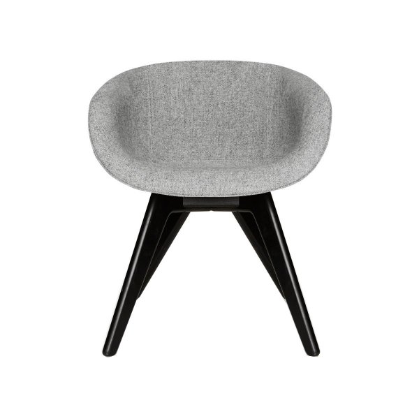 Scoop Chair Low Back Black Leg Hallingdal