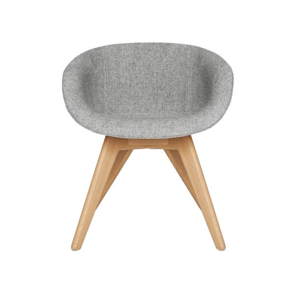 Scoop Chair Low Back Natural Leg Hallingdal