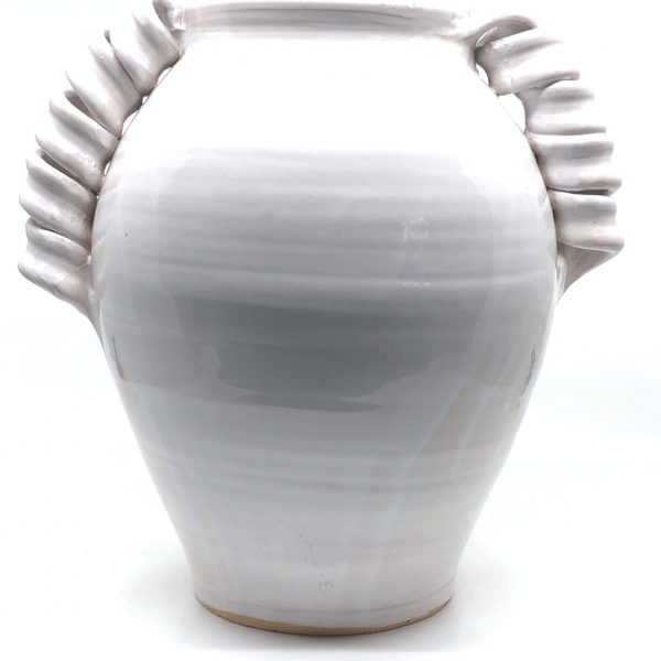 Twisted White Vase