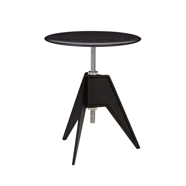 Screw Cafe Table Black Oak
