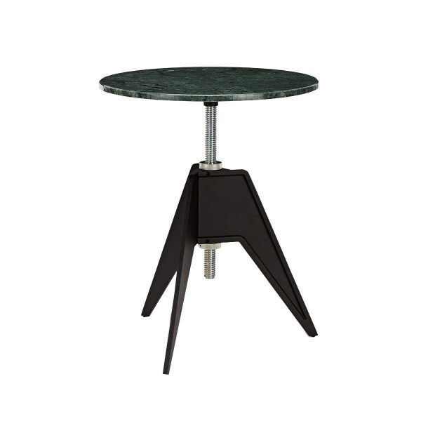 Screw Cafe Table Green Marble