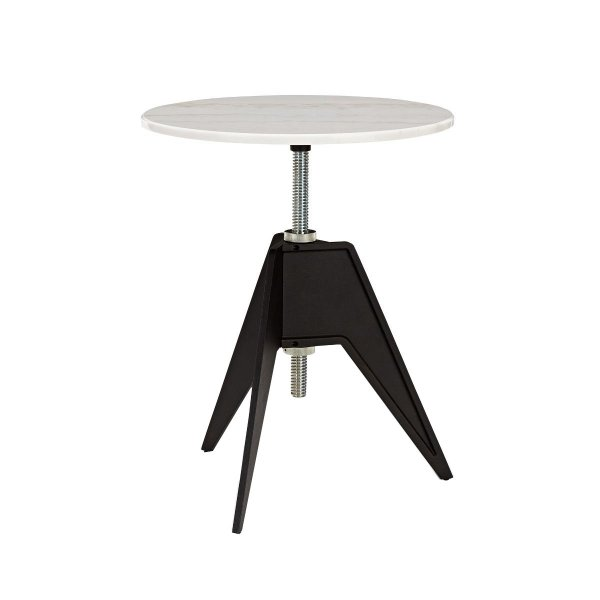 Screw Cafe Table White Marble