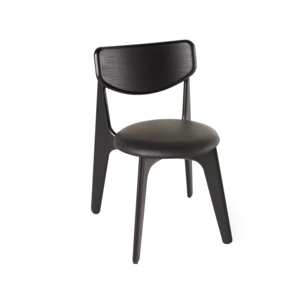 Slab Chair Black Upholstered