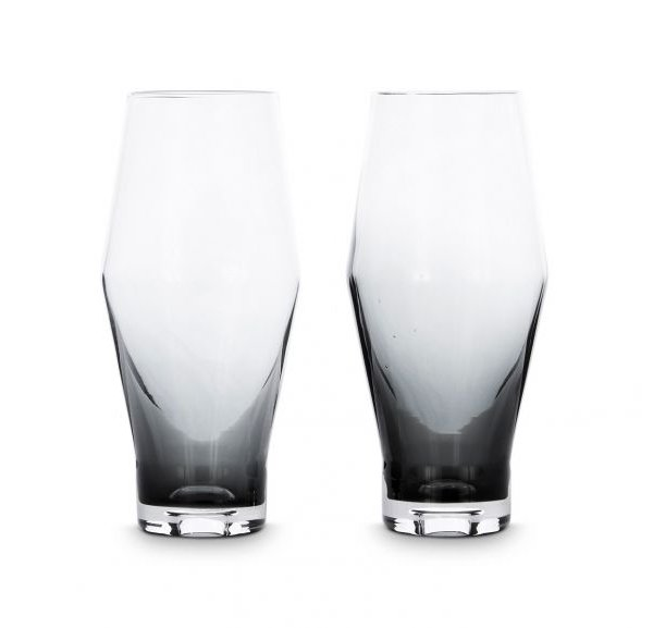 Tank Beer Glasses Black, Set of 2