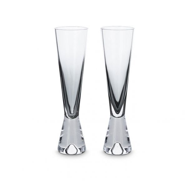 Tank Champagne Glasses Black, Set of 2
