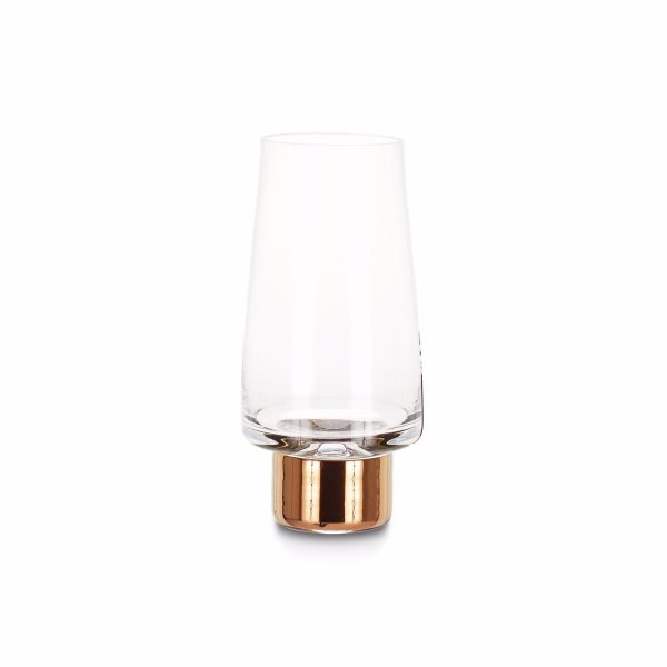 Tank High Ball Glasses Copper, Set of 2