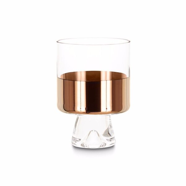 Tank Low Ball Glasses Copper, Set of 2