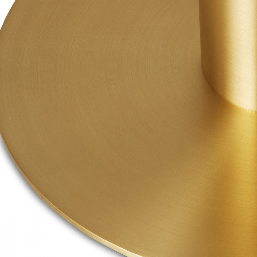 Tube High Table Brass Natural Oak Top 900mm