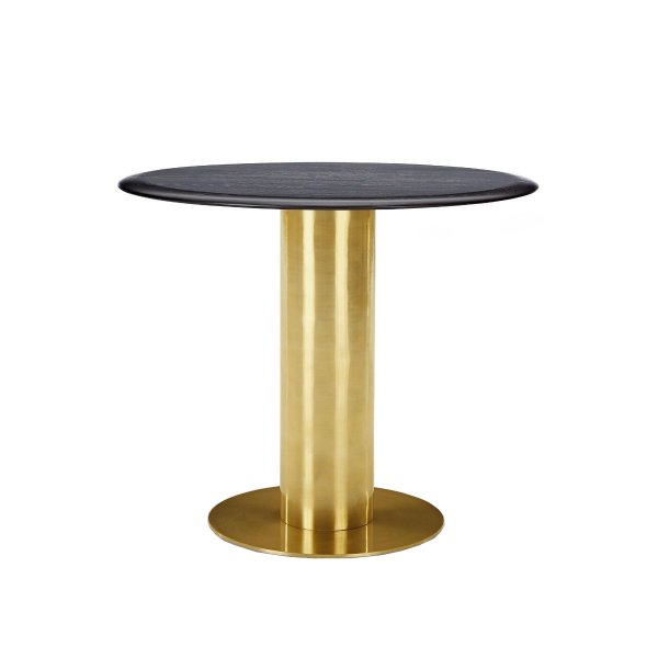 Tube Table Black Oak Top 900mm