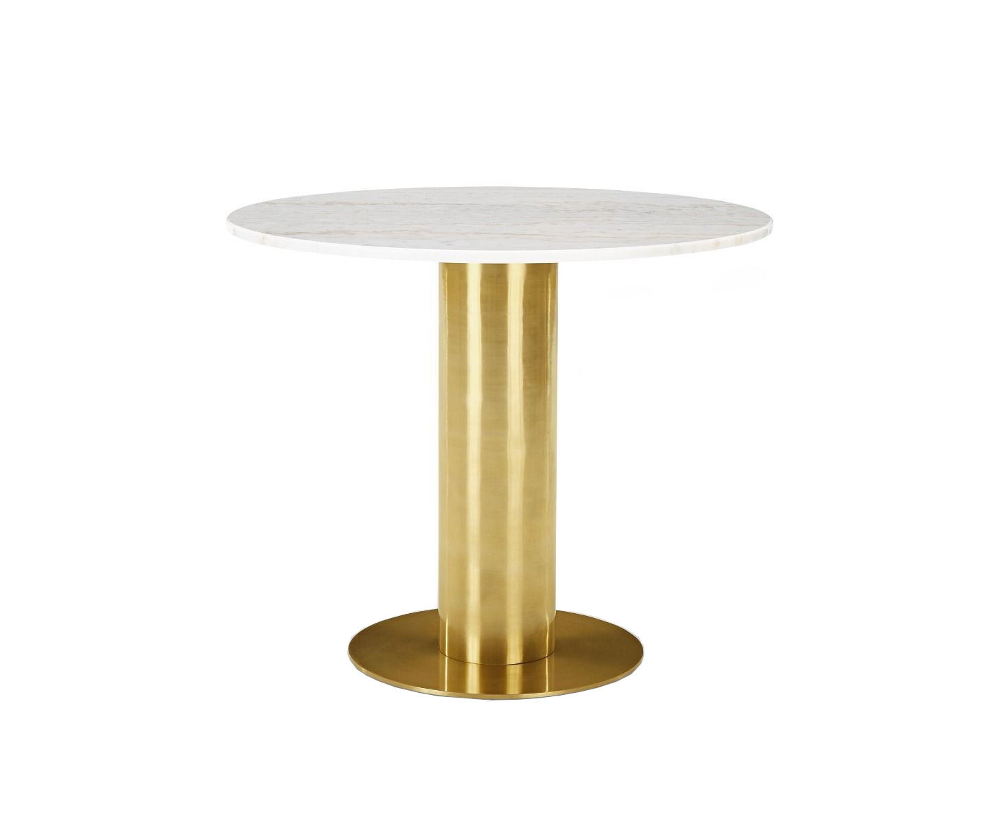 Tube Table White Marble Top 900mm