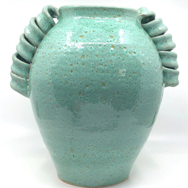 Twisted Green Vase