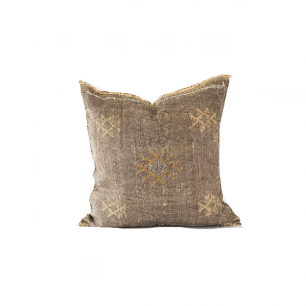 Dark Brown Sabra Pillow