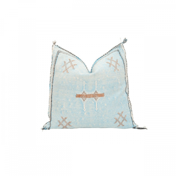 Light Blue Sabra Pillow