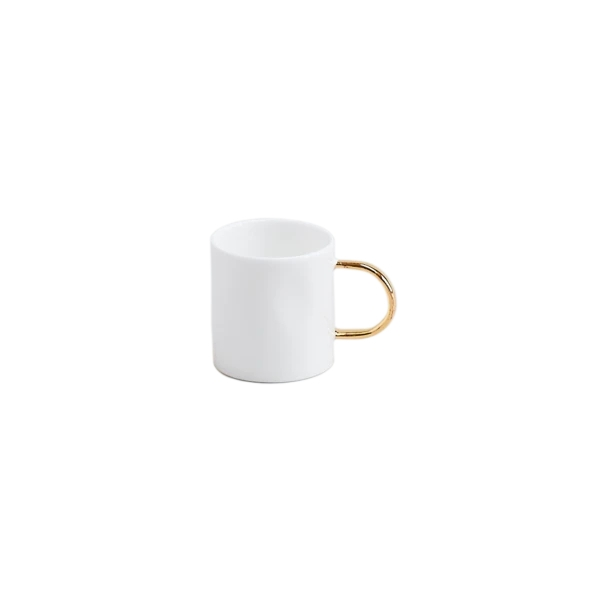 Gold Espresso Mugs, Set of 6