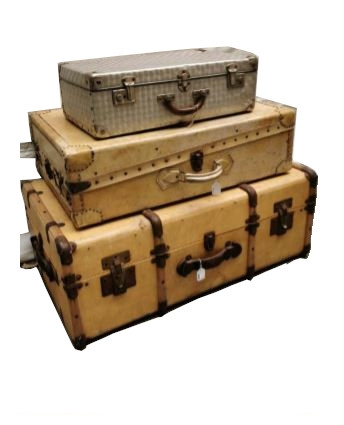 Lot of Vintage Trunks