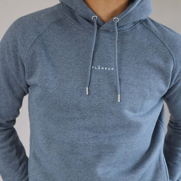 Flâneur Unisex Dark Heather Blue Hoodie