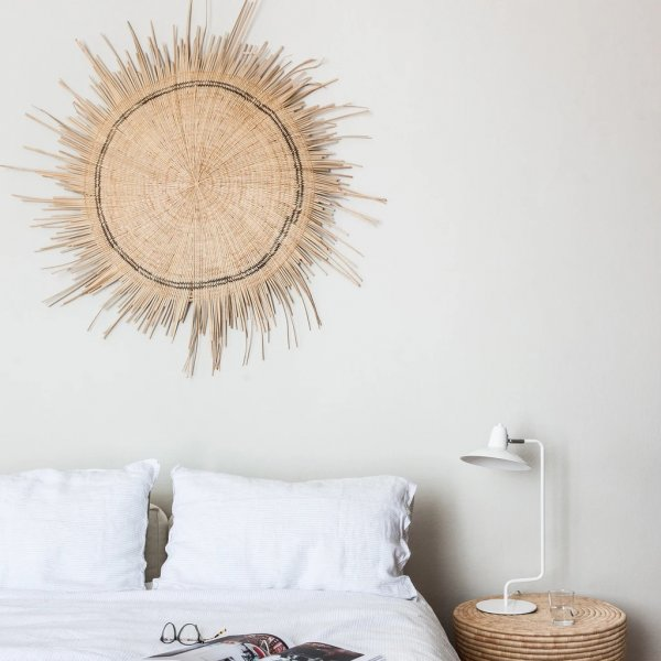 Natural Sun Circle Wall Hanging