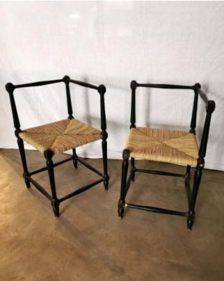 Corner Armchairs, Set of 2