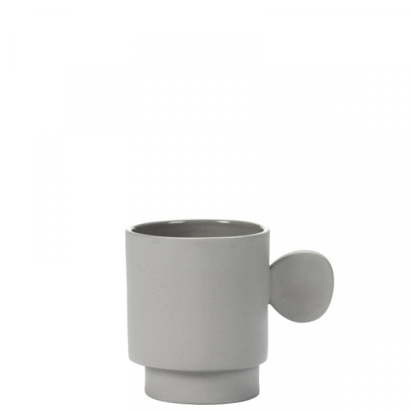 Asymmetrical Mug in Light Grey