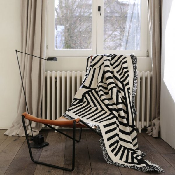 Black & White Reversible Cotton Throw